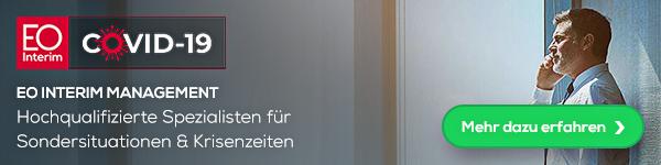 EO Interim Management - Hochqualifizierte Speazialisten für Sondersituationen und Krisenzeiten - Mehr dazu erfahren